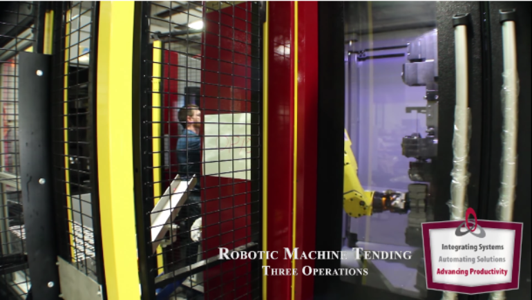 Robotic Machine Tending – Three operations – Industrial Automation